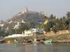 Vue des environs de Mandalay depuis le fleuve