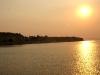 Coucher de soleil à l\'approche de Bagan