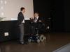 Le principal Mr. Chevalier et le Vice-Président du Conseil Général Monsieur Gabrieli