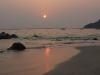 Coucher de soleil sur la plage de Ngapali