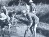 Travailleurs dans les marais