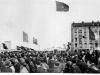 Manifestation lors de la venue d\'Ho chi Minh pour les accords de Fontainebleau